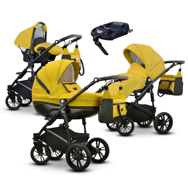 Friedrich Hugo Savior | 4 in 1 pram & pushchair set | ISOFIX Set