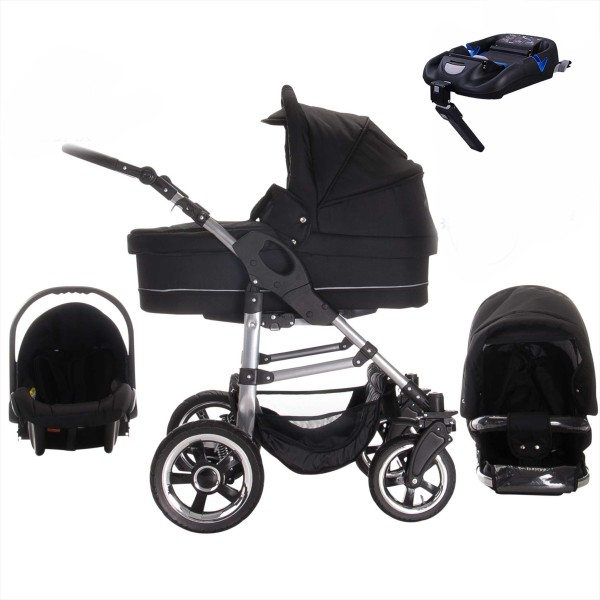 Bebebi London | ISOFIX Basis & Autositz | 4 in 1 Kinderwagen Set
