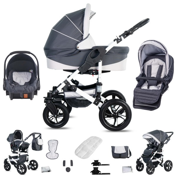 Friedrich Hugo Hamburg | 3 in 1 Kombi Kinderwagen
