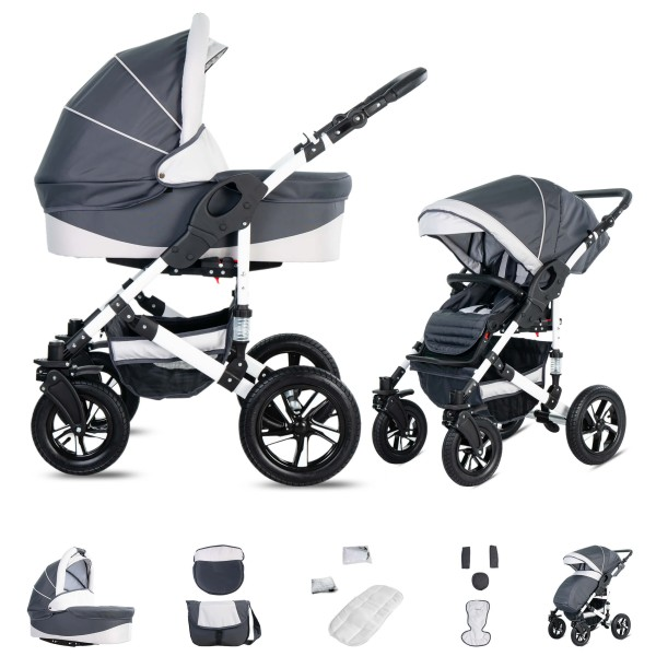 Friedrich Hugo Hamburg | 2 in 1 Kombi Kinderwagen