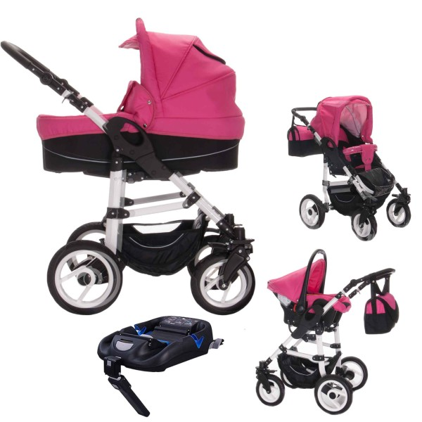 Bebebi Paris | 4 in 1 Kinderwagen Komplettset | ISOFIX Basis & Autositz